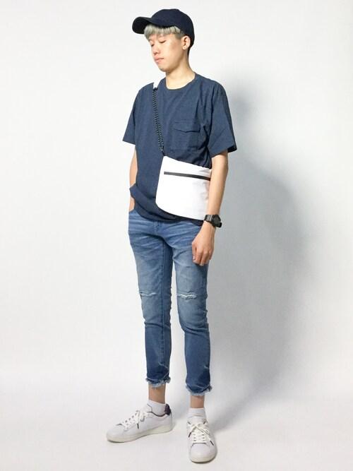 まっこいさんの「NスーピマコットンTシャツ【niko and ...】(niko and...)」を使ったコーディネート