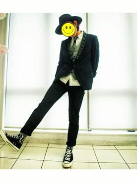 KAZUYAさんの(INDIVIDUALIZED SHIRTS インディビジュアライズドシャツ)を使ったコーディネート