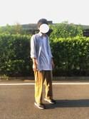 まーこ is wearing GU