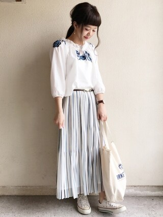 「【CLASSY. 6月号 掲載】シフォンプリーツスカート(TONAL)」 using this haru ◎ looks