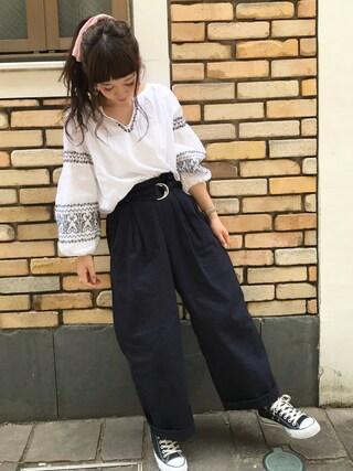 「シシュウバルンチュニック/745062(JEANASIS)」 using this haru ◎ looks
