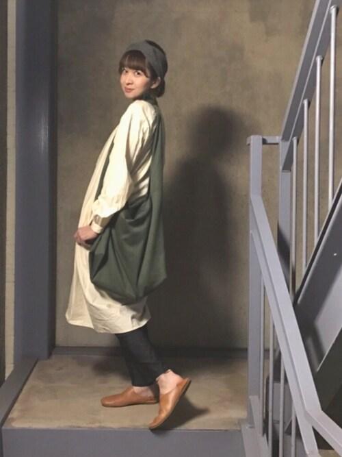 階段暮らしのウルカマラさんの「ムジXターバン(Kastane)」を使ったコーディネート