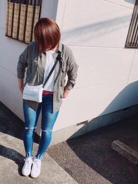 yuzuさんの「ミリタリーシャツ/744437(JEANASIS ジーナシス)」を使ったコーディネート