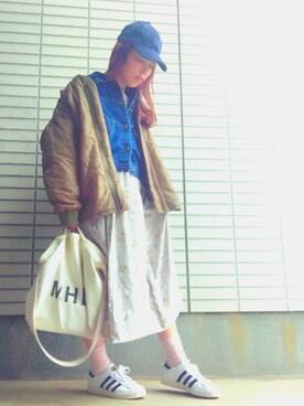 きゅうりさんの「リップキルトデックコート【niko and ...】(niko and...)」を使ったコーディネート