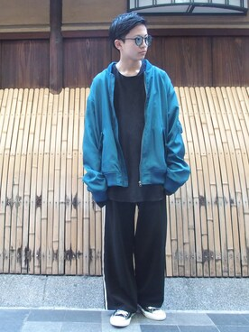 WHO'S WHO gallery 京都寺町店|kento   fujiwaraさんの「BIGBIGプリントMA-1(WHO'S WHO gallery)」を使ったコーディネート