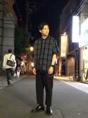 kento   fujiwaraさんの「Gショック G-SHOCK / ソリッドカラーズ Solid Colors / DW-5600BB-1JF / カシオ CASIO(G-SHOCK|ジーショック)」を使ったコーディネート