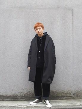 WHO'S WHO gallery 京都寺町店|kento   fujiwaraさんの「HIPHOPキルティングボアブルゾン(WHO'S WHO gallery)」を使ったコーディネート