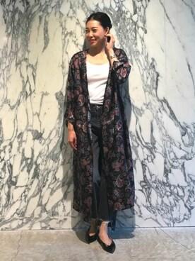 ASTRAET|mizuguchi ayaeさんの「ASTRAET(アストラット) ペイズリー ロングガウン(ASTRAET)」を使ったコーディネート