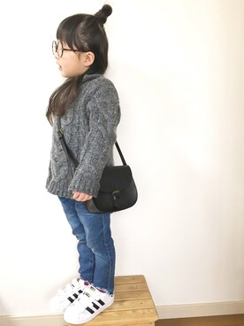 yuunaさんの「【キッズ】カコウデニムスリムパンツ/741037(GLOBAL WORK グローバルワーク)」を使ったコーディネート