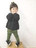 yuunaさんの「スウェード調リボンナットヘアゴム(AZUL by moussy|アズールバイマウジー)」を使ったコーディネート