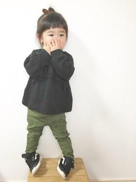 yuunaさんの「ベビー VANS ヴァンズ スニーカー ISO2 V2004B SPD BLACK(VANS|バンズ)」を使ったコーディネート