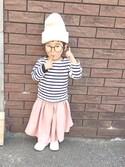 yuunaさんの「ARTEX WATCH CAP(COMECHATTO&CLOSET|カムチャットアンドクロゼット)」を使ったコーディネート