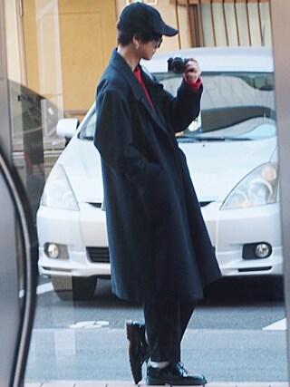 げんじさんの「NEWHATTAN/ニューハッタン 6パネル コーデュロイ キャップ 帽子 ラルフキャップ(ROOPTOKYO|ループトウキョウ)」を使ったコーディネート