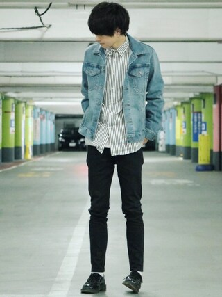 「WHEIR Bobson SKINNY JEANS(URBAN RESEARCH)」 using this げんじ looks