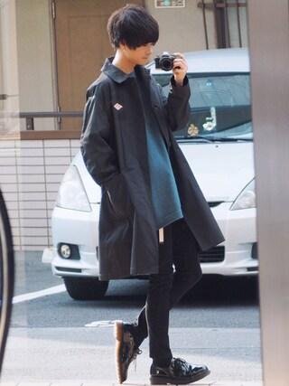 「DANTON P/DOUBLE CLOTH COAT(URBAN RESEARCH DOORS MENS)」 using this げんじ looks
