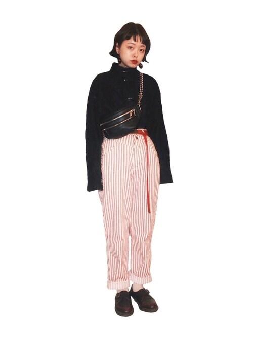 MIDORI使用(古着)的時尚穿搭