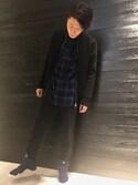 Katsma Ichiharaさんの「カットデニム裾ゴムパンツ(COLONY 2139|コロニー トゥーワンスリーナイン)」を使ったコーディネート