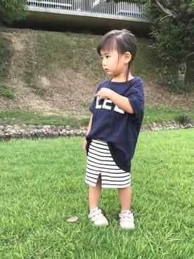 anjuさんの「LEE袖ポケットTシャツ(apres les cours|アプレレクール)」を使ったコーディネート