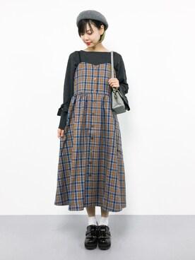 ZOZOTOWN|ambiさんの「フロントサークルショルダーバッグ【PLAIN CLOTHING】(PLAIN CLOTHING)」を使ったコーディネート