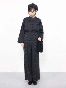 ZOZOTOWN|ambiさんの「チャイナボタン長袖シャツ1056(merlot)」を使ったコーディネート
