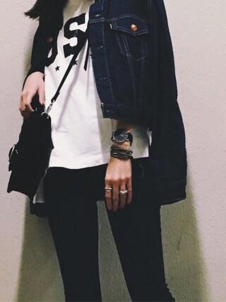 MAYUさんの「VELOUR HAND BAG(MOUSSY|マウジー)」を使ったコーディネート