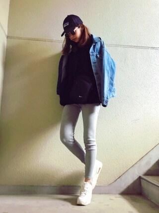 MAYUさんの「【X-girl Jean】DENIM JACKET(X-girl エックスガール)」を使ったコーディネート