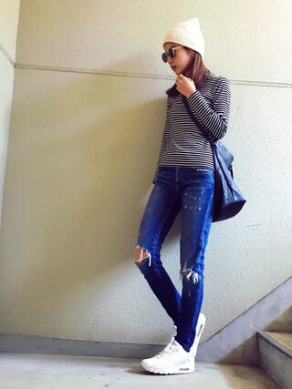 MAYUさんの「iSKO COMFORT Brea Skinny(MOUSSY|マウジー)」を使ったコーディネート