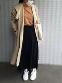 mihaさんの「【撥水・花粉防止加工】TRノーカラーコート/745469(BLISS POINT|ブリスポイント)」を使ったコーディネート