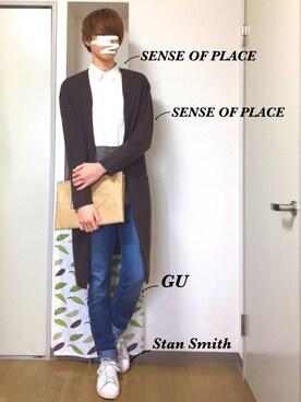 ゆうきさんの(SENSE OF PLACE by URBAN RESEARCH|センス オブ プレイス バイ アーバンリサーチ)を使ったコーディネート
