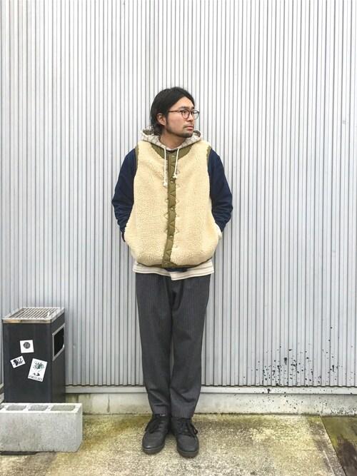 Yushi Amanoさんの(COMFY OUTDOOR GARMENT)を使ったコーディネート