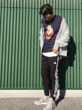 「メンズ アディダス チュブラー ランナー グレー adidas TUBULAR RUNNER B34312(adidas originals)」 using this kashiya83 looks