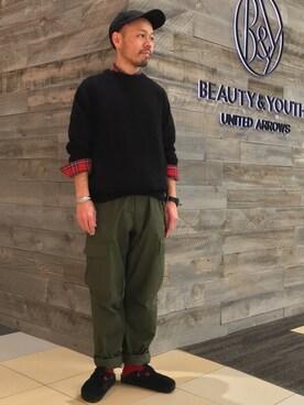 ビューティ&ユース ユナイテッドアローズ 西宮店 Yuta Okazakiさんの(BIRKENSTOCK ビルケンシュトック)を使ったコーディネート