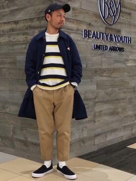 BEAUTY&YOUTH UNITED ARROWS|Yuta Okazakiさんの(BEAUTY&YOUTH UNITED ARROWS|ビューティアンドユースユナイテッドアローズ)を使ったコーディネート