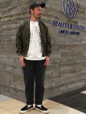 ビューティ&ユース ユナイテッドアローズ 西宮店 Yuta Okazakiさんの(VANS VAULT バンズ ボルト)を使ったコーディネート