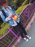 北島彩都さんの「MEN ジョガーパンツ(ジャージー・レングス69~73cm)(ユニクロ|ユニクロ)」を使ったコーディネート
