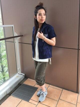 AVIREX ららぽーと横浜 kinukaさんの(AVIREX アヴィレックス)を使ったコーディネート