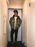 HATSUSHIさんの「フェイクスウェードキャップ/Color Low Cap(TONE SELECT GOODS|トーンセレクトグッズ)」を使ったコーディネート