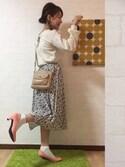 yucaさんの「足にFIT☆痛くなりにくい走れる美脚パンプス[XS~3L]トリプルクッション☆機能系5cmヒールベーシックパンプス/神戸レタス[I940](KOBE LETTUCE KOBE LETTUCE)」を使ったコーディネート