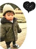 ☆harurunさんの「ボア付きリバーシブルジャケット(petit main プティマイン)」を使ったコーディネート