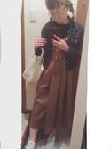 しゅうちんさんの「KBF BIGプリーツジャンパースカート(KBF|ケイビーエフ)」を使ったコーディネート