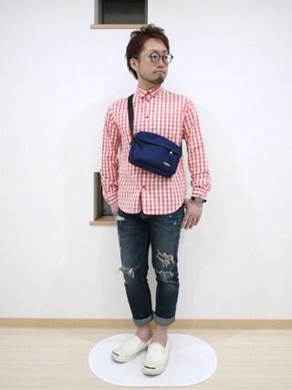 カトウトモタカさんの「FORK&SPOON Oganicオックスチェックシャツ(URBAN RESEARCH DOORS MENS アーバンリサーチ ドアーズ メンズ)」を使ったコーディネート