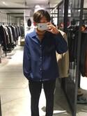 M.Miyaguchiさんの「T/Wコーチジャケット(UNITED TOKYO)」を使ったコーディネート