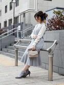 sioさんの「ベロアリボンロングヘアゴム【PLAIN CLOTHING】(PLAIN CLOTHING|プレーンクロージング)」を使ったコーディネート