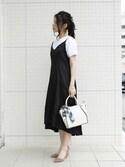 sioさんの「【再入荷】スカーフミニハンドバッグ/ショルダーバッグ【PLAIN CLOTHING】(PLAIN CLOTHING プレーンクロージング)」を使ったコーディネート