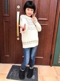 Miyuさんの「ノルディック柄セーター(by loveit|バイラビット)」を使ったコーディネート