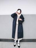 midoriさんの「UR 袖ボリュームニット(URBAN RESEARCH|アーバンリサーチ)」を使ったコーディネート