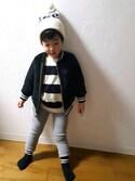 taitai//3歳さんの「Lee/ リー LEE LOGO KNITCAP(Lee)」を使ったコーディネート