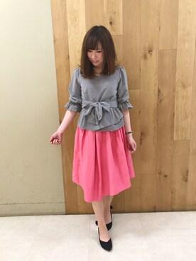 sakiko♡さんの「前しばり7分袖ブラウス(WILLSELECTION)」を使ったコーディネート