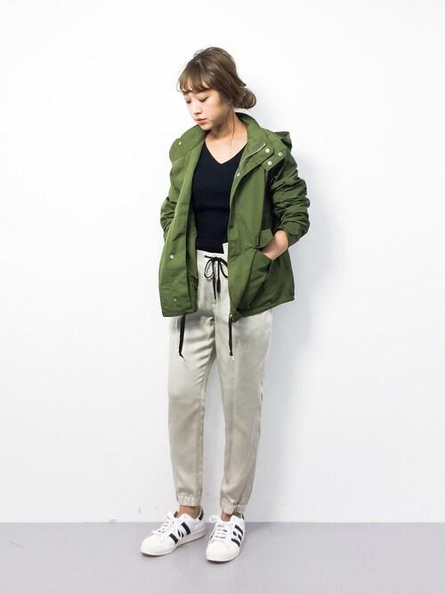 teraさんの「◆CF LYチノ ドロストパンツ②(green label relaxing)」を使ったコーディネート