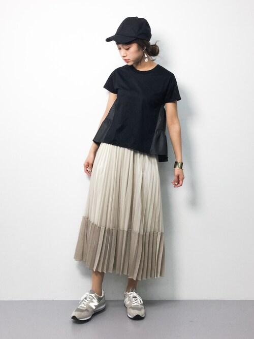 teraさんの「チュール*サテンプリーツスカート(Gready Brilliant)」を使ったコーディネート
